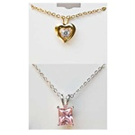 Wholesale Assorted CZ Pendant Necklaces