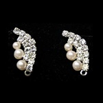 CZ and Pearl post earrings.