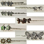 Assorted Crystal Bobby Pins