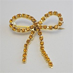 Wholesale Topaz Bow Pin