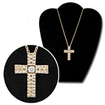 Wholesale CZ Cross Pendant Necklace