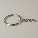 Round Split Key Ring