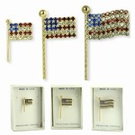 Swarovski Crystal Flag Pins
