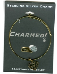 Sterling Silver, Charmed Bracelet, Exclusive Waliga Original! Mom Heart