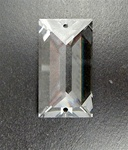 Genuine Swarovski Strass Rectangle Pendant with 2 holes, size 40x22mm, clear Crystal, discontinued