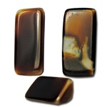 "Genuine West German Glass Buffalo horn color glass triangle stone, 1/3"" x 1/2"" (6 pcs minimum)"