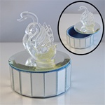 Mirror Swan Trinket Box