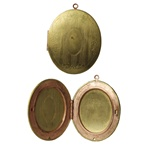 Vintage Oval Fancy Locket - 48mm x 38mm