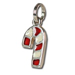 Wholesale Sterling Silver Candy Cane Charm