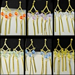Wholesale Assorted Color Dangle Earrings Beautiful crystal dangle earrings come in assorted colors. (1 dozen minimum)