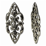 Nickel Plated Filigree Finding