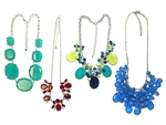 Assorted Department Store Brand Beaded and Enamel Color Necklaces (40 pieces lot)