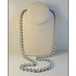 "Wholesale Gray Pearl Necklace Elegant endless 10mm gray pearl necklace, 34"". (1 dozen minimum)"