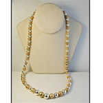 "Wholesale Gold & Silver Bead Necklace Distinctive gold & silver bead necklace, 28""."