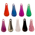Lucite Asst. Color Crystal Pendant Drop - 20X8, Pendant/earring