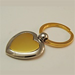 Two Tone Heart Key Ring