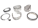 Assorted Department Store Brand Silver Bracelets (40 pieces lot)