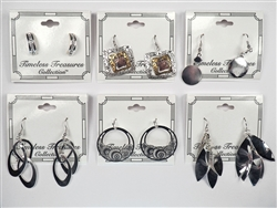 Assorted Department Store Brand Silver Earrings (40 pairs lot)