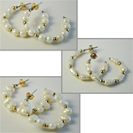 "Wholesale Pearl & Bead Earrings Beautiful Pearl & bead earrings, 1 1/4"" wide. Comes in assorted sizes & styles. (1 dozen minimum)"