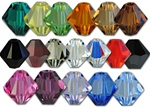 Swarovski Art. 5301 Bicone Crystal Bead - 5mm- Available in 16 colors, emerald, jonquil, peridot, lt. colorado topaz, smoked topaz, jet, siam, crystal, crystal ab, hyacinth, jet hematite, rose, amethyst, violet, siam, sapphire & lt. sapphire
