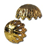 Gold and Silver Filigree Bead Cap-1Gross