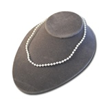 "Wholesale Pearl Choker Necklace Elegant 4mm pearl necklace, 16"". (1 dozen minimum)"