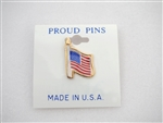 Americana Americana Proud Flag Pins Gold plated pins on a card, 3 dozen minimum