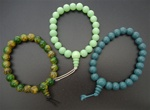 Beneficial Beaded Stretch Bracelets, Assorted Colors - Celery, Turquoise or Marbled