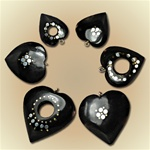 Assorted Buffalo Horn Heart Pendants