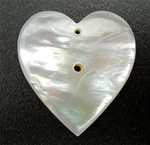Mother of Pearl Heart Pendants Earrings with 2 holes