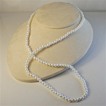 "Wholesale Pearl Necklace Elegant 4mm & 5mm pearl necklace 24"". (1 dozen minimum)"