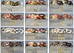 Cloisonne  Hair Combs, Assorted styles and colors, unique, rare, vintage