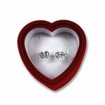CZ Heart Earrings