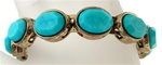 Wholesale Genuine Chico's Bracelet, Turquoise Antique Gold Magnetic Bangle