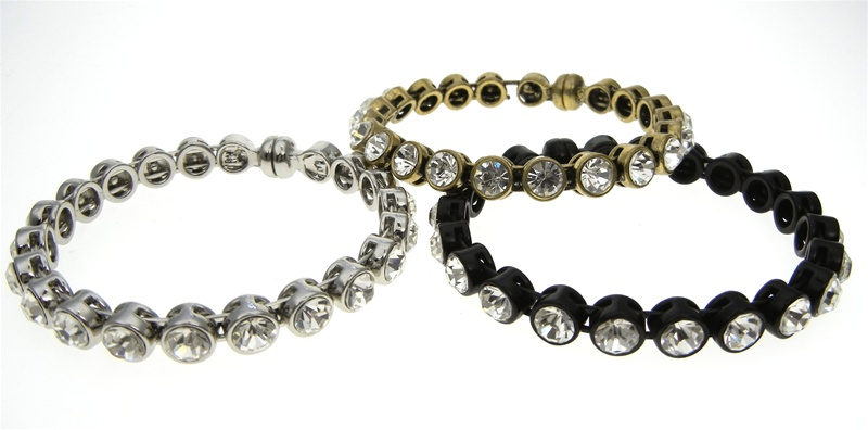 Genuine Chicos Magnetic Bangle Bracelet with Crystal Stones