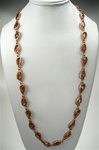 "Chico's Stone and Metal Fashion Necklace, 36"" with extender, Topaz/Matt Gold"