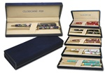 Cloisonne Pen Gift Set Genuine cloisonne pen and letter opener set with blue velvet gift box. Comes in six colors, white, black, mauve, navy, red & turquoise.