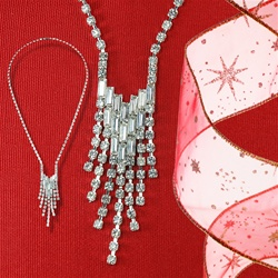 Austrian Crystal Baguette Necklace
