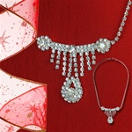 Austrian Crystal Pear Drop Necklace