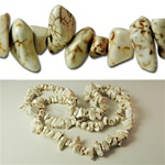 Genuine Magnesite Nugget Beads
