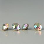 Wholesale 12SS Rhinestones Crystal AB pointed back with foil 3mm. Over 2000 pieces, 50grams.