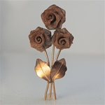 Wholesale Delicate Patterned Bouquet Copper rose bouquet finding 2"