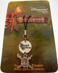Authentic Disney Pirates of the Caribbean Cell Phone Fob