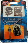 Authentic Disney Pirates of the Caribbean on Leather Cord Necklace with 2 Tatoos