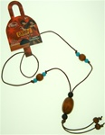 Authentic Disney Camp Rock Necklace on Leather Cord with Wooden Beads
