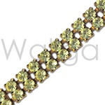 Wholesale Swarovski Rhinestone Chain - Double Row Jonquil