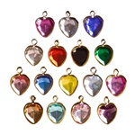 Lucite Channel Heart, 14mm, Asst. Colors