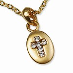 Wholesale gold & silver tone Cross Necklace
