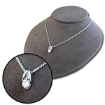 Wholesale Sterling Silver Tone Rhinestone Necklace