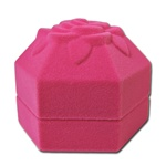 Ring,Earring, pendant Box -Octogan Rose-